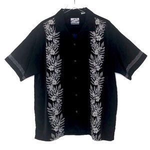 Pineapple Connection Blue Hawaiian Shirt Large